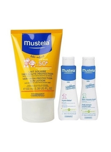 Mustela Mustela Güneş Losyonu 100 ml + Yenidoğan Şampuanı 50 ml + Vücut Losyonu 50 ml Beyaz